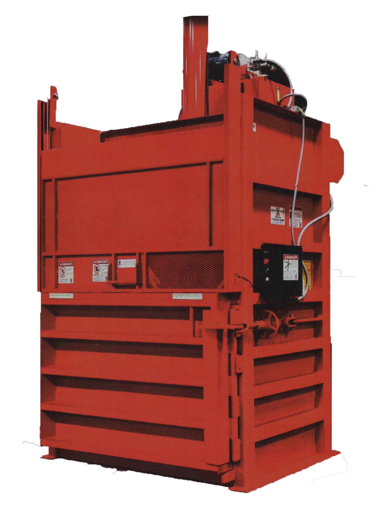 Vertical Baler for Cardboard